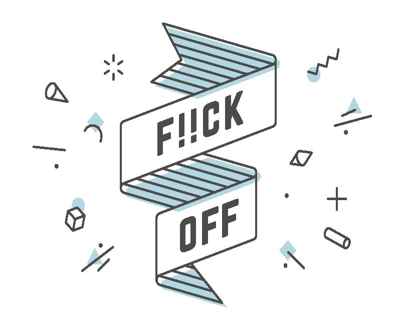 """TenVinilo. Alfombrilla de raton frases f!ck off. Alfombrilla de ratón con frase """"f!ck off"""" con diferentes diseños geométricos ornamentales. Hecho de material de calidad ¡Envío a domicilio!"""
