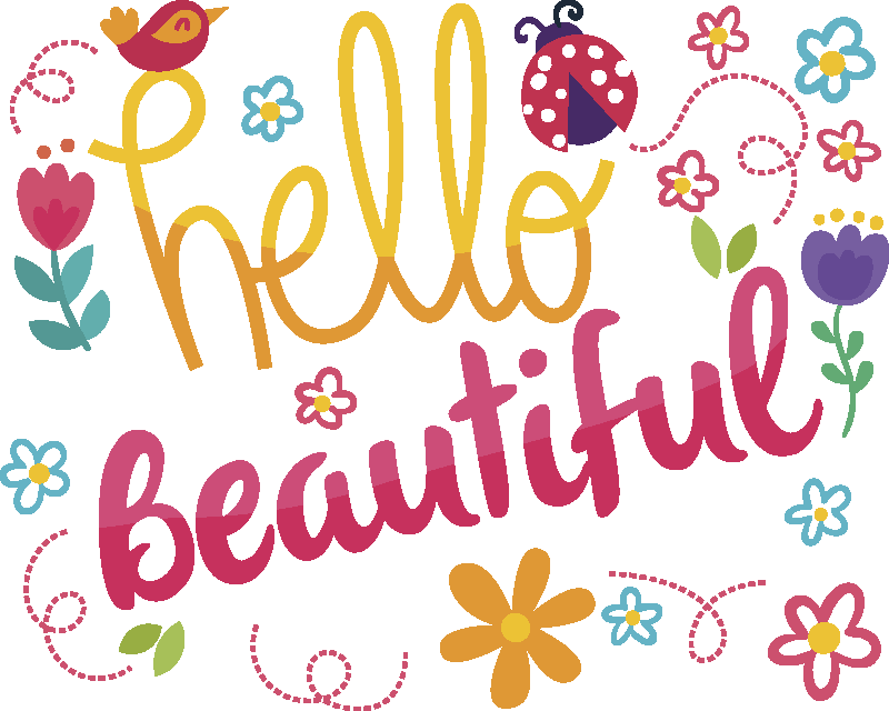 TenStickers. Hello beautiful mouse pad with quotes. Why not buy our hello beautiful text mouse mat for a loved one. A lovely design for a working lady and teens.  Its also featured with colorful flowers.