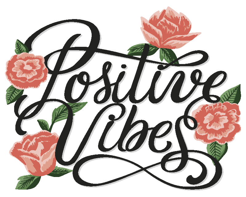 TenStickers. Positive vibes mouse pad with quotes. Positive vibes mouse pad quotes inscription design. It is made from high quality material and easy to maintain. Available in different sizes.