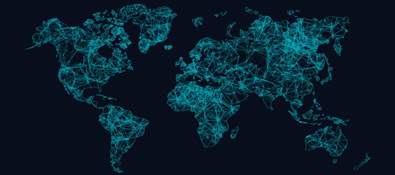 TenVinilo. Alfombrilla ratón mapamundi interconectado. Hermosa alfombrilla ratón mapamundi con mapa del mundo diseñado con líneas ordenadas. El producto está hecho de material de calidad ¡Envío exprés!
