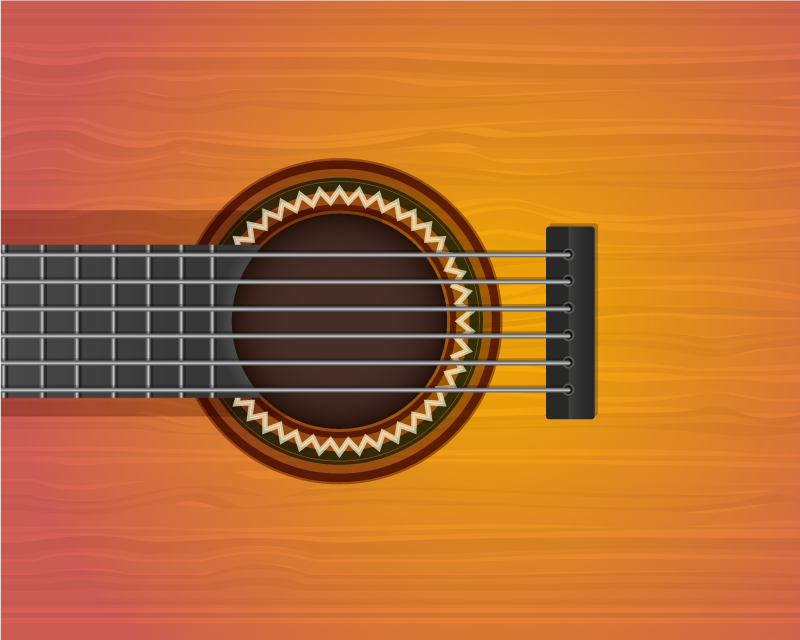 TenStickers. 吉他原装乙烯基鼠标垫. 带有吉他设计和形状的原始鼠标垫。它非常可爱,并且有不同的尺寸。易于使用和维护。