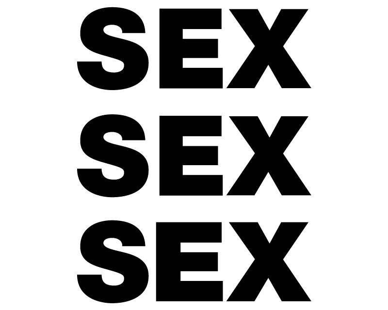 TenStickers. Sex original vinyl mouse pad. Original mouse pad with a white background and SEX inscribed on it in three column. It is available in different dimensions.
