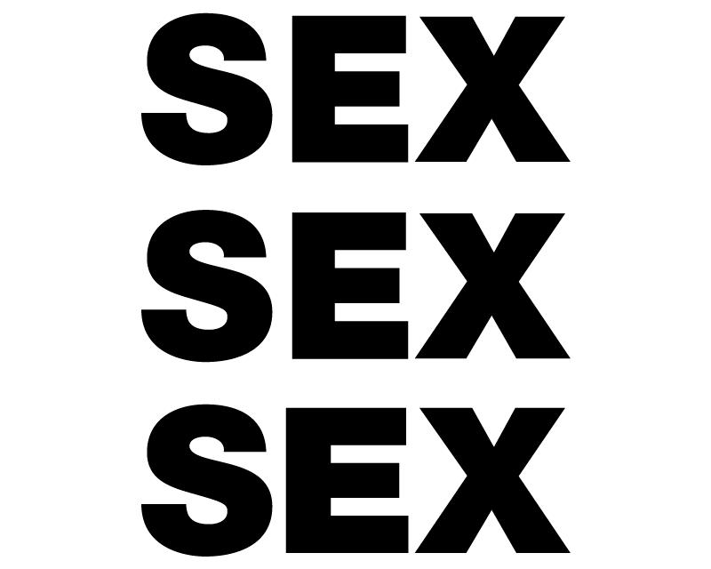 TENSTICKERS. セックスオリジナルビニールマウスパッド. 背景が白で、性別が3列に刻まれたオリジナルのマウスパッド。さまざまな次元で利用できます。
