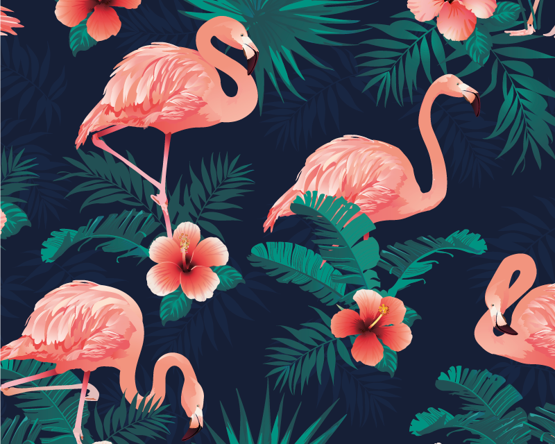 TenStickers. Flamingos mouse pad with patterns. Buy our colorful flamingo pattern mouse pad to support your mouse with easy navigation. It is very friendly to use and decorative for your table space