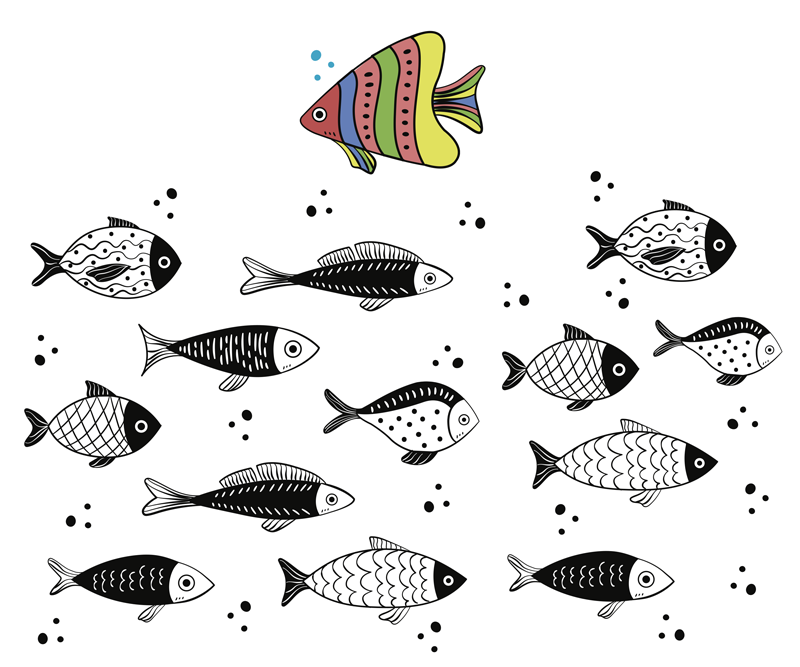 TenStickers. Counter flow fish mouse mat. A counter flow patterned fish mouse pad design hosting different fishes. It is easy to use and anti allergic. It comes in different size options.