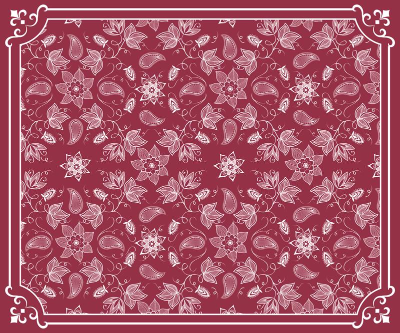 Tenstickers. Kauniita paisley kukkia paisley hiiri matto. Kiehtova paisley-vinyylihiirimatto, joka on valmistettu alkuperäisestä ja laadukkaasta materiaalista. Se on helppo puhdistaa ja antiallergisia.