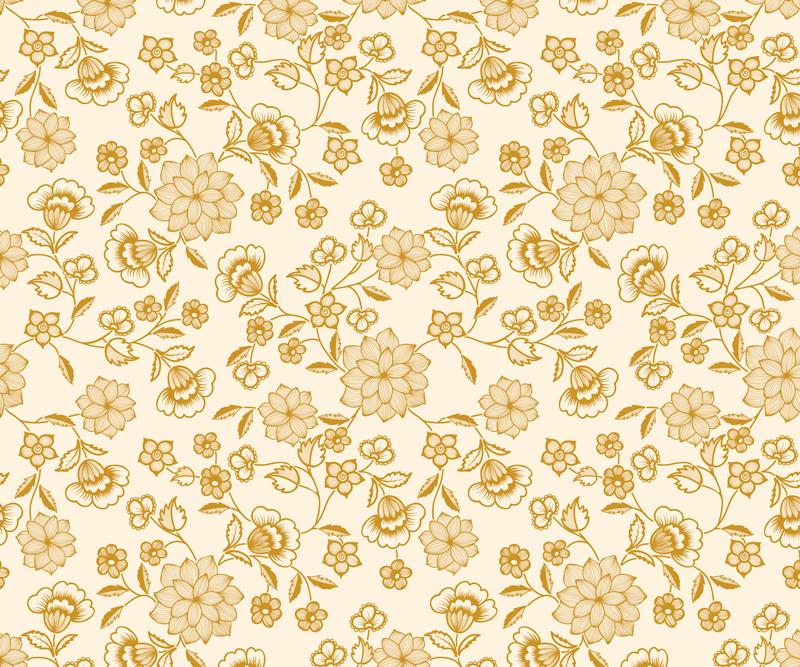 TenStickers. 꽃 무리 페이즐리 마우스 매트. 황금빛 색상의 페이즐리 디자인이 적용된 놀라운 최신 마우스 패드. 유지 관리가 쉽고 품질이 시장에서 최고입니다.