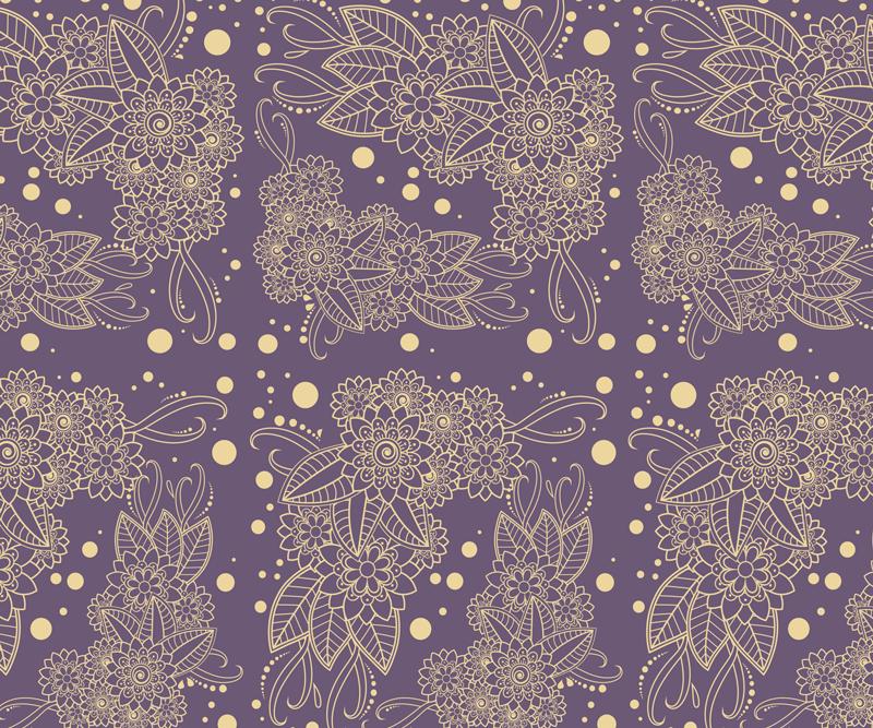 TenVinilo. Alfombrilla de ratón floral paisley lila y dorada. Alfombrilla de ratón moderna para la facilitar el uso ratón y decorar tu mesa como a ti te gusta. Producto de calidad ¡Elige tus medidas!