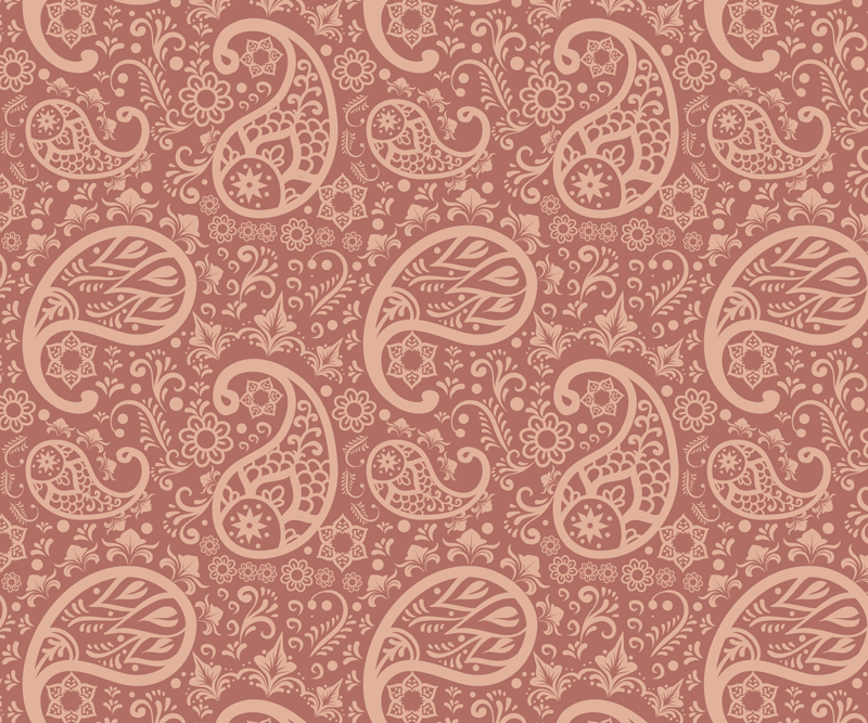TenStickers. Paisley Pattern paisley mouse mat. Paisley patterned mouse pad designed on a coloured background. It is easy to maintain and made of good quality material.