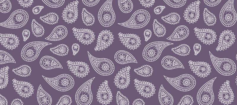 TenStickers. Tapis de souris motif paisley violet . Tapis de souris violet conçu avec un motif paisley. Ce tapis de souris original est parfait pour vous aider à utiliser plus facilement votre souris. Facile à entretenir.