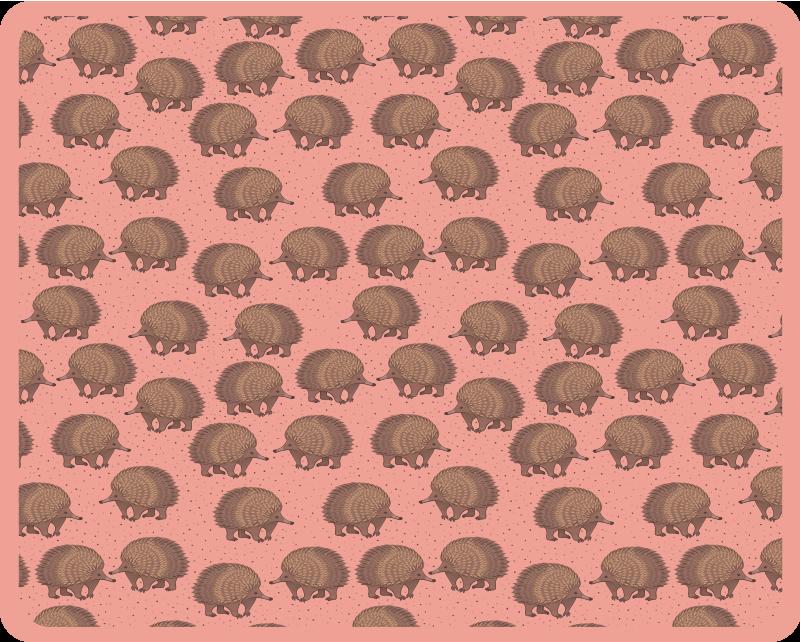 TenStickers. 豪猪和点刺猬鼠标垫. 在我们原始的鼠标垫豪猪图案设计中使用鼠标,享受令人惊叹的体验。它易于维护并且质量很高。