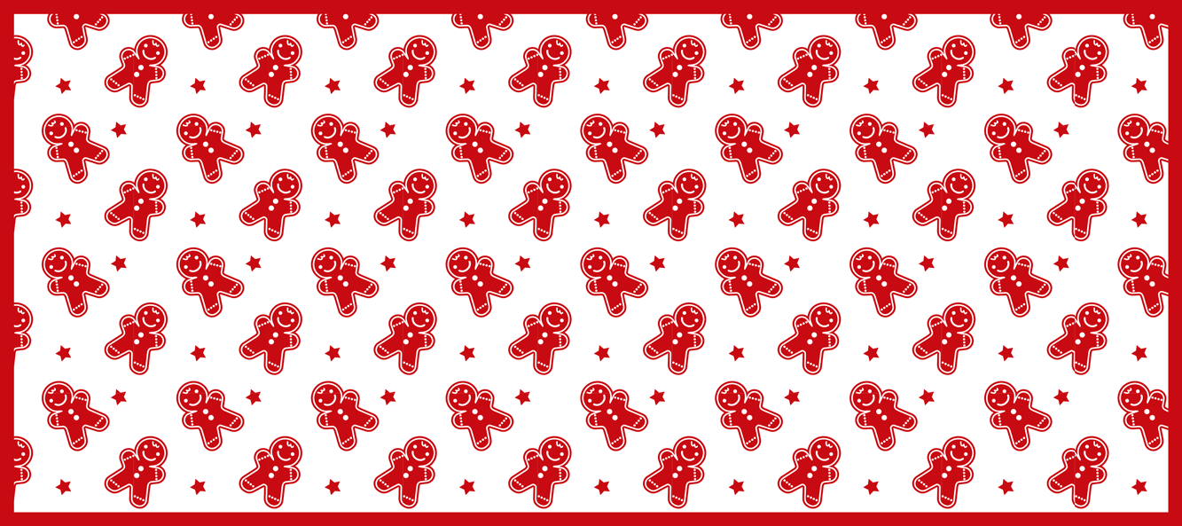 TenStickers. Christmas Cookies christmas mousepad. Christmas cookies Christmas mousepad. Lovely white background design Christmas mouse mat with different charismas cookies and stars design in red.