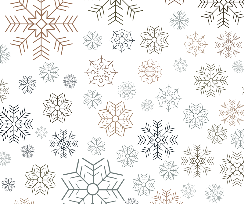 TenStickers. Snowflakes pattern mouse pad. Christmas snowflakes pattern mouse mat for your computer mouse space. The design is created with lovely ornamental prints that depicts snow fall.