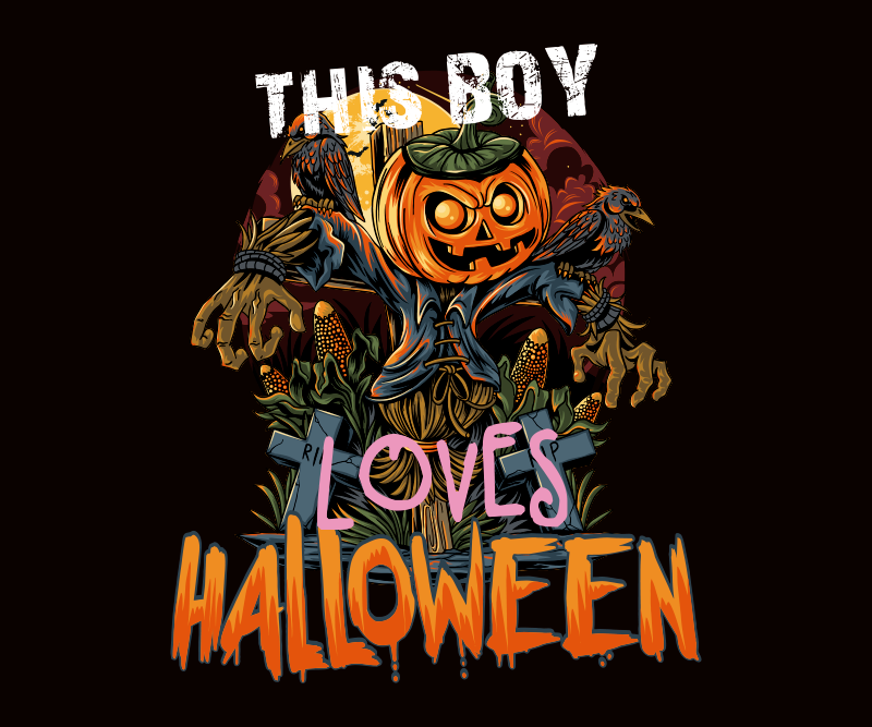 TenStickers. This boy loves Halloween mouse pad. Do you love Halloween?  If you sure do then you should purchase this original mouse mat with Halloween design. Easy to maintain and of high quality.
