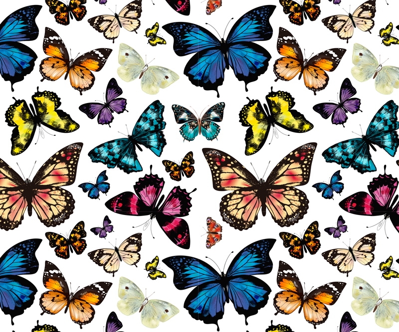 TenStickers. Beautiful and Colorful butterflies butterfly mouse mat. Beautiful and Colorful butterflies mousepad to make your work time on a computer space less stressful. Original durable and easy to clean.