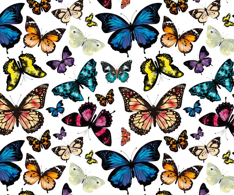 TenVinilo. Alfombrilla de ratón mariposas a todo color. Alfombrilla de ratón original y colorida con mariposas para que decores tu casa a tu gusto o regales. Elige medidas ¡Envío a domicilio!