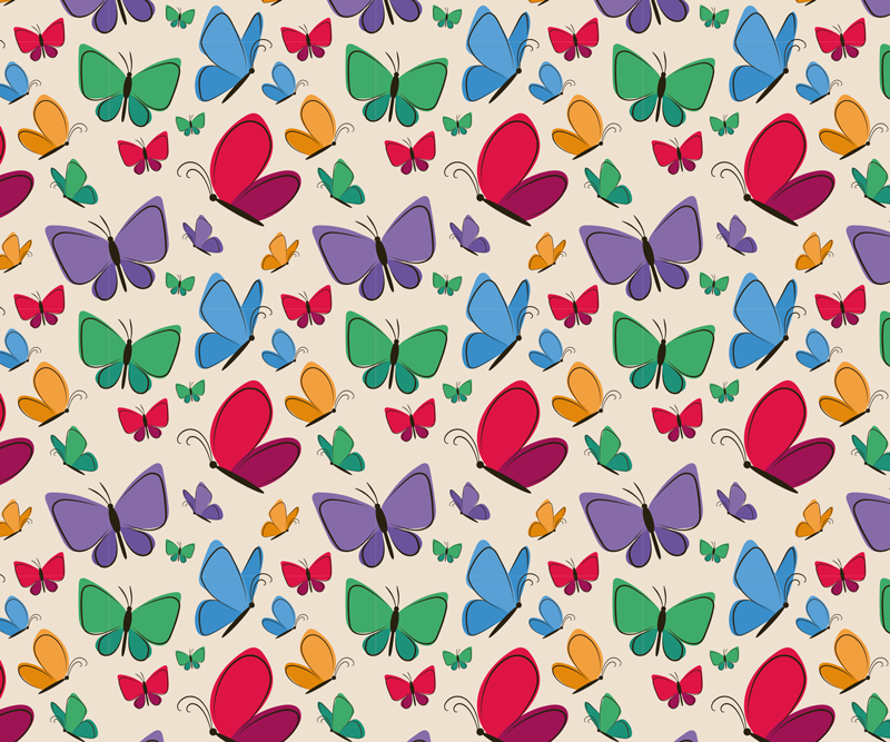 TenStickers. Butterflies Flying for kids butterfly mouse mat. As your kids learn to use the computer, you can add fun on the desk space with our colorful flying butterfly mouse pad design.