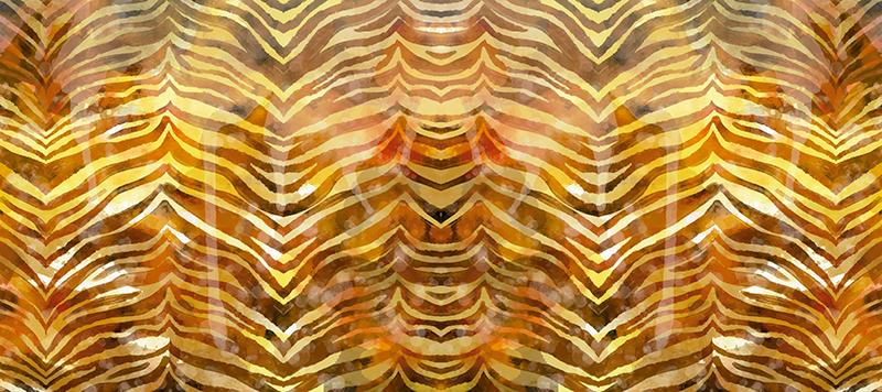 TenStickers. Teksturirane podloge za miško z zebrastim tiskom. Podloga za miško zebra s čudovitim vzorcem tiskanja zebra z rumenimi in zlatimi odtenki. Izberite svojo velikost.