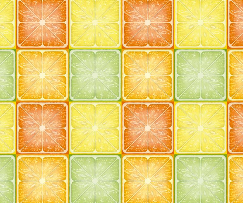 TenVinilo. Alfombrilla ratón texturas azulejos cítricos. Alfombrilla ratón texturas de rodajas cuadradas de cítricos en amarillo y naranja, ideal para que llenes de alegría y colores tu casa ¡Envío exprés!