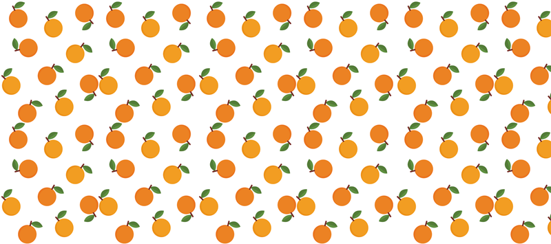 TenStickers. Elegant oranges citrus mouse mat. Citrus vinyl mouse mat with a design of whole oranges with orange leaves, on a white background, ideal to fill your decor with  joy while studying.