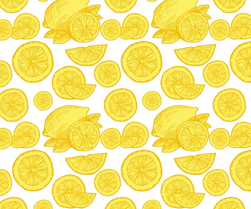 TenVinilo. Alfombrilla ratón textura rodajas limones. ¡Aquí tenemos una alfombrilla ratón textura con un patrón increíble que se verá hermosa! Producto fácil de mantener ¡Envío exprés!
