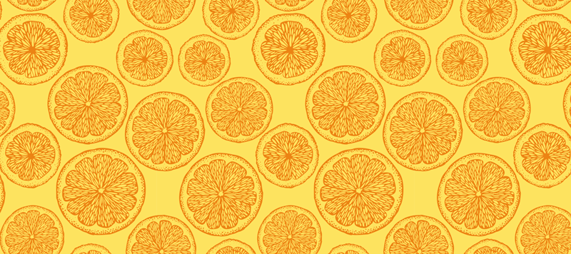 TenStickers. Orange hand draw pattern citrus mouse mat. Home delivery to your very own doorstep in just a matter of some days today if you order this beautiful citrus mousepad product! Buy it now!