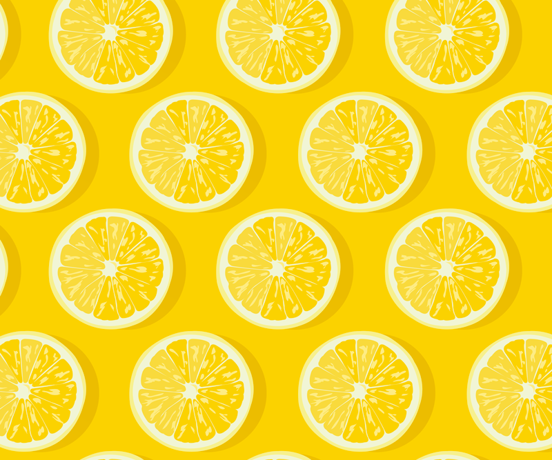 TenStickers. Sliced lemons citrus mouse mat. Order this cool citrus mousepad design now! Home delivery in just a few days. Can easily be washed and cleaned if you spill anything on it!
