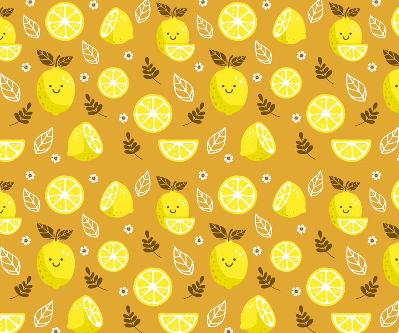 TenStickers. smiling lemons citrus mouse mat. Order your citrus mousepad design today and be amazed! Can easily be washed using hot water and some regular neutral soap. Order it today!