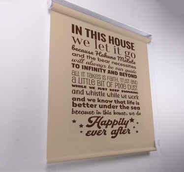 žiješ podle citátu 'hakuna matata'? Pak byste měli do svého domu dostat tuto úžasnou roletu do obývacího pokoje! Objednejte si to hned!