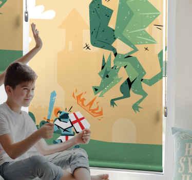 Objednejte si do pokoje svého dítěte tuto originální superhrdinskou roletu s dračími boji. Věděli jste, že žaluzie se instalují stejně snadno?
