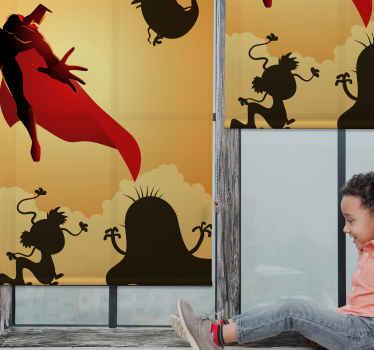 Dopřejte si vzrušení v dětském pokoji s touto úžasnou roletou superhrdiny s příšerami! Objednejte si tento fantasticky navržený produkt ještě dnes!