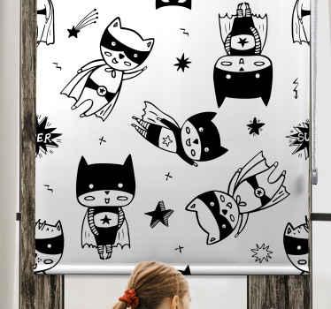 Přineste do svého dětského pokoje hrdinství s touto úžasnou karikaturou superhrdinů, které slepí děti! Už nečekejte a objednejte si ještě dnes!