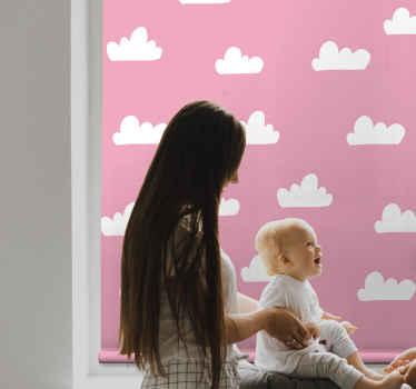 žaluzie s růžovým vzorem - velmi krásná roleta pro instalaci úžasné atmosféry v prostoru dětí, když je dolů.