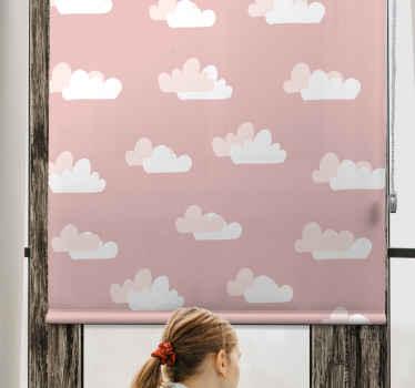 Nainstalujte si toto růžové pozadí s roletovým oknem na prostor okna vašeho dítěte a uvidíte, jak krásný je prostor, když jej stáhnete dolů.