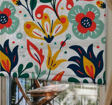 Vaše okenní roleta už nemusí být prostá! Buďte styloví se svým domácím dekorem začleněním našich barevných květin moderních slepých do vašeho prostoru.