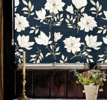 Krásné dekorativní bílé květy roleta pro váš domov, kancelář a obchodní prostor. Je originální a přizpůsobitelný tak, aby vyhovoval vašim potřebám.
