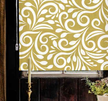 Doplňte svůj prostor naší originální roletou se zlatým vzorem - tato okenní roleta je navržena se stylovými vzorovanými okrasnými květinami.