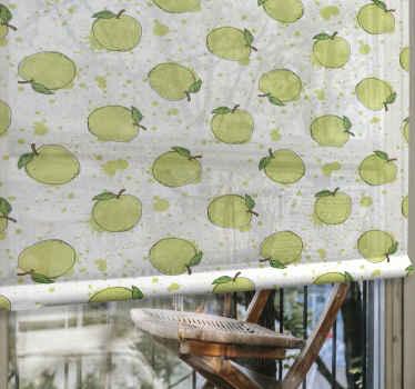 Zelená mokrá jablka s ovocem a zeleninou vám umožňují modulovat světlo podle vašich představ... Naše rolety mohou být vyrobeny z různých látek.