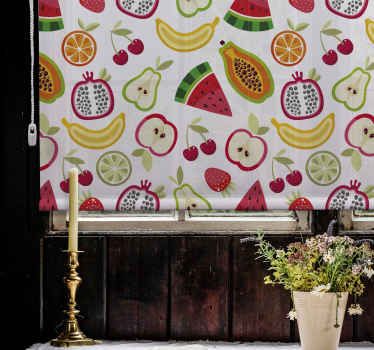 Ovocná a zeleninová roleta tutti vám umožní modulovat světlo podle vašich představ. Tenstickers nabízí široký výběr žaluzií.