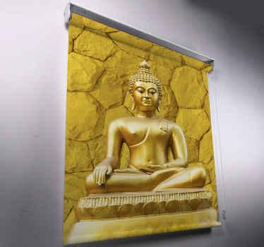 Tato roleta v obývacím pokoji je zaměřena na velkou ilustraci zlatého statutu buddhy na zlatém texturovaném pozadí. Předinstalovaný!
