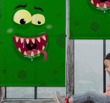 Tento zelený odstín okna je zelené monstrum s velkýma očima a ústy se zuby a jazykem. Zvolte mechanismus a typ materiálu!