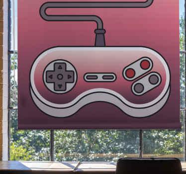 Tato skvělá a zábavná roleta je založena na červeném pozadí s velkou grafikou herní konzoly také v červené barvě. Vyberte mechanismus a materiál!