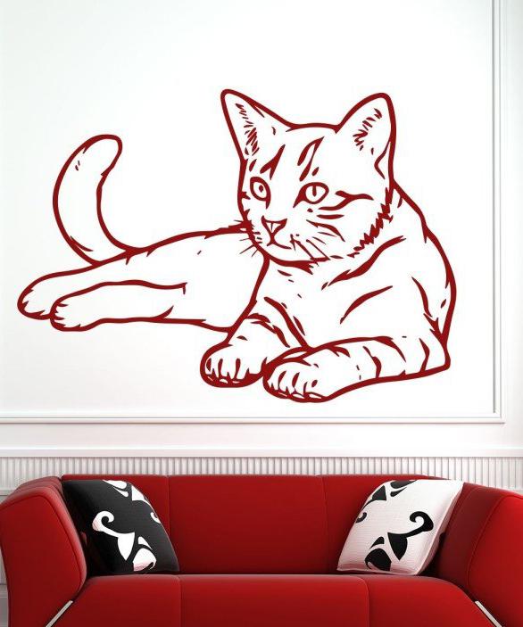 Wandtattoos Katze