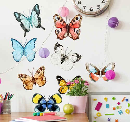 αυτοκόλλητα πεταλούδας