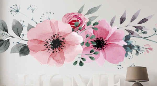 Nálepky na Stenu Kvety