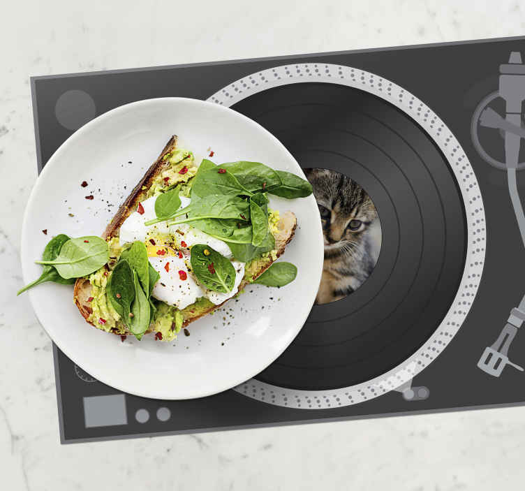 TenStickers. Vinyl disk customisable photo original vinyl placemats. Get your vinyl disk customisable placemat today! Dinner time will be made so much more fun for everyone. What are you waiting for?