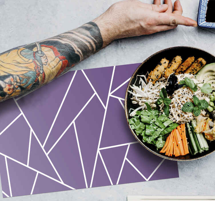 TenStickers. Purple background elegant vinyl placemats. Purple background elegant place-mats for homes and restaurant. An elegant place-mat to make any dinning table space complete with a touch of elegance.