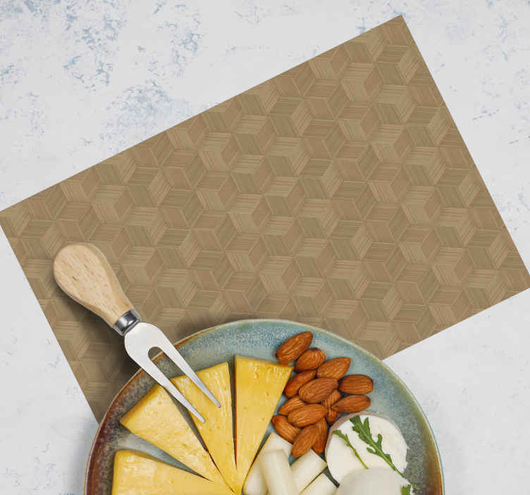 TenStickers. Bamboo reeds textured vinyl placemats. A bamboo reed texture place-mat for home and restaurant dining table space decoration. It is easy to maintain and anti allergic.