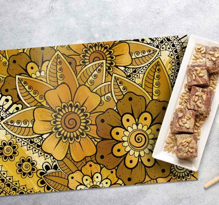 TenStickers. Paisley Indian Style paisley vinyl placemats. Let's decorate your table space with our new style of paisley place-mat made from high quality material. It is easy to clean and anti allergic.