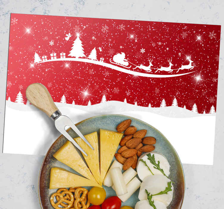 TenStickers. Christmas wave  vinyl placemats. Enjoy and feel the amazing experience of Christmas with your family and guest with this Christmas featured place-mat on a dining table.